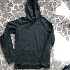 Hunter green almost new dri-fit Nike men's hoodie